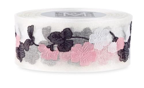 Garland Cherry Blossom Ribbon - Pearl