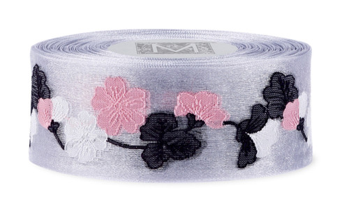 Garland Cherry Blossom Ribbon - Sterling