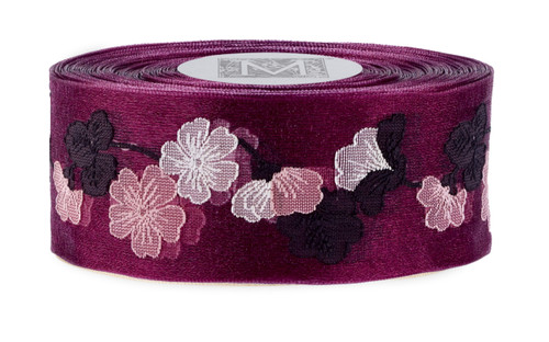 Garland Cherry Blossom Ribbon - Wine