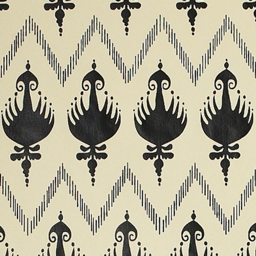 Gift Wrap - Ikat - Cream/Black