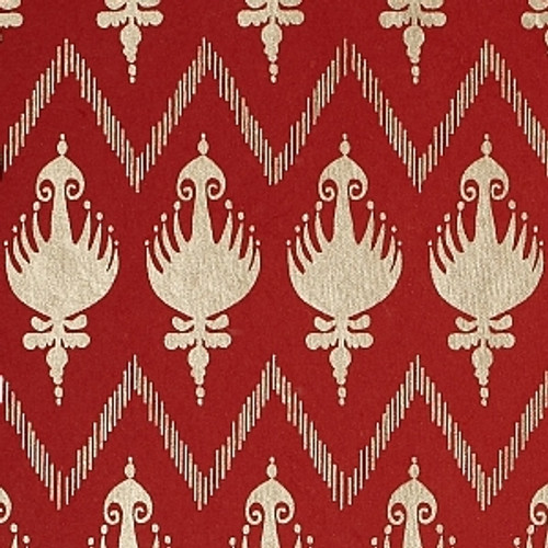 Gift Wrap - Ikat - Red/Metallic Gold