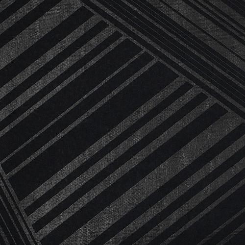 Gift Wrap - Lines - Metallic Black