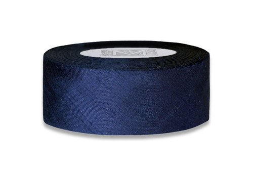 Dupioni Silk Ribbon - Navy