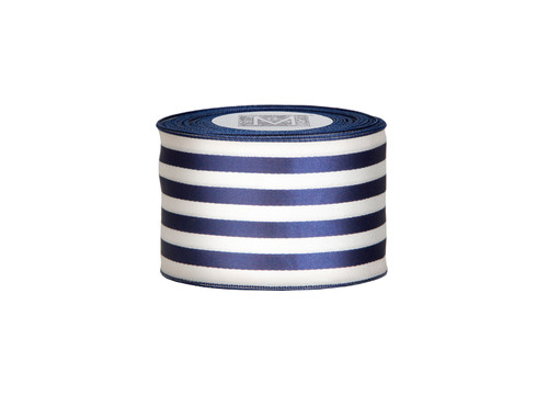 Ascot Ribbon - Navy/Cream