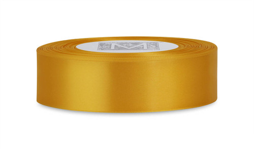 Custom Printing on Double Faced Satin Ribbon - Amarillo