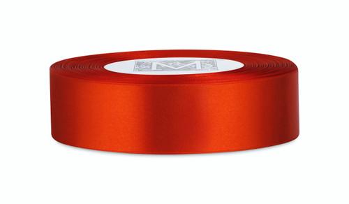 Custom Printing on Double Faced Satin Ribbon - Mandarin