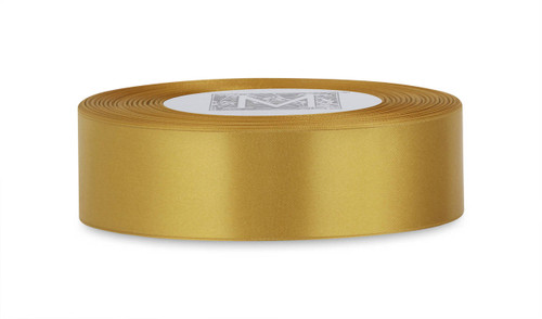 Custom Printing on Double Faced Satin Ribbon - Imperial Gold