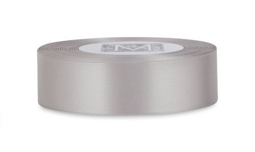 Custom Printing on Double Faced Satin Ribbon - Sterling