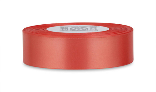 Custom Printing on Double Faced Satin Ribbon - Coral