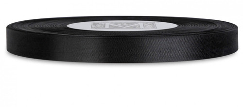 Custom Printing on Rayon Trimming Ribbon - Black