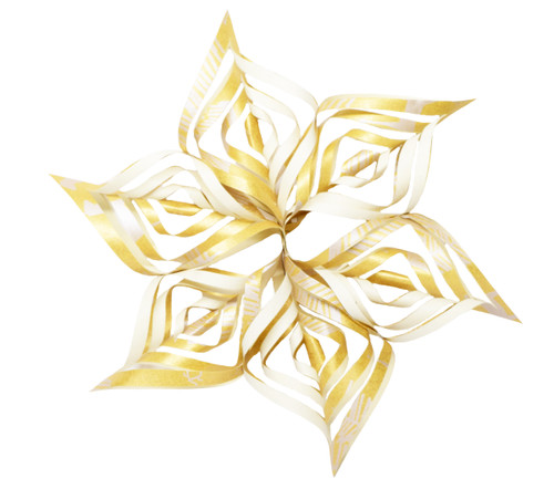 Snowflake Topper - Reindeer and Tree Gold