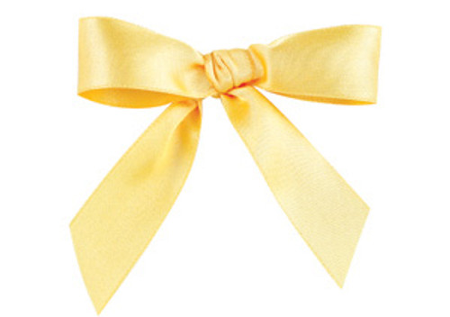 Embossed Edge Double Faced Satin - Maize