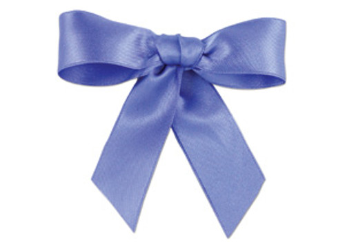 Embossed Edge Double Faced Satin - Forget-Me-Not