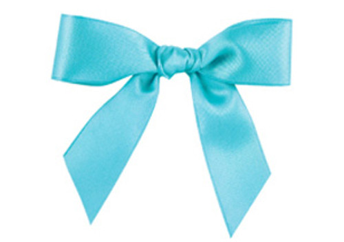 Embossed Edge Double Faced Satin - Aquamarine