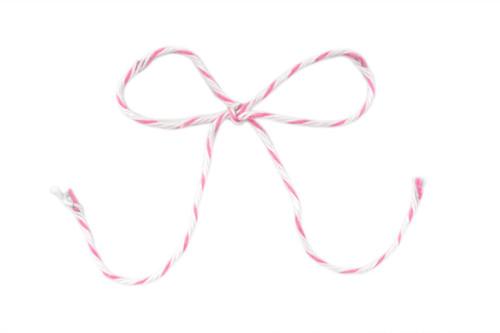 Baker's Twine - Pink & White Stripe