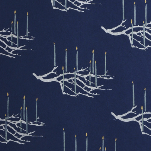 Candelabra – Navy/White/Metallic Silver and Gold