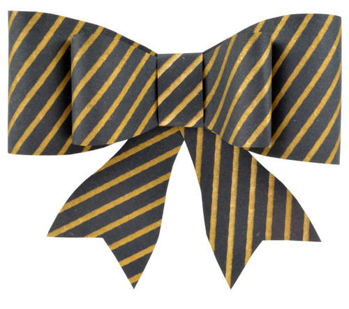 Paper Bow Topper - Duet Gold/Black