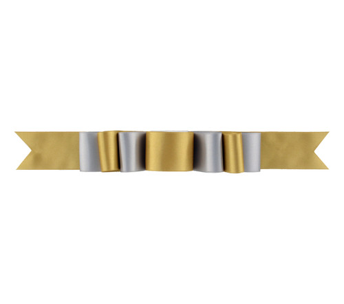 Triple Layer Bow Topper - Sterling/Blond