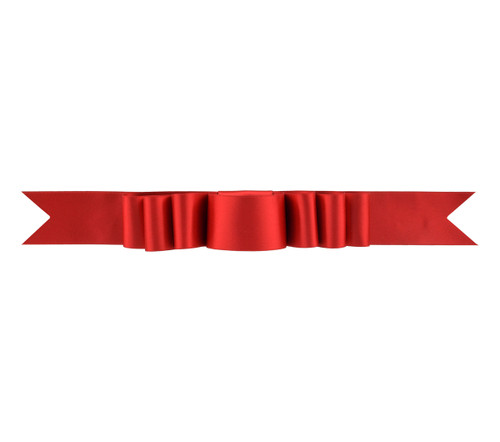 Triple Layer Bow Topper - Red