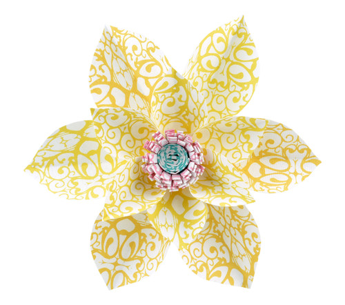 Paper Daisy Topper - Ladybug Yellow