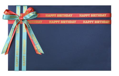 Present's Name: Happy Birthday Tidings on Navy