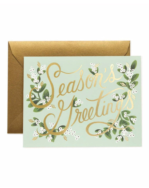 Mistletoe Season's Greetings Card