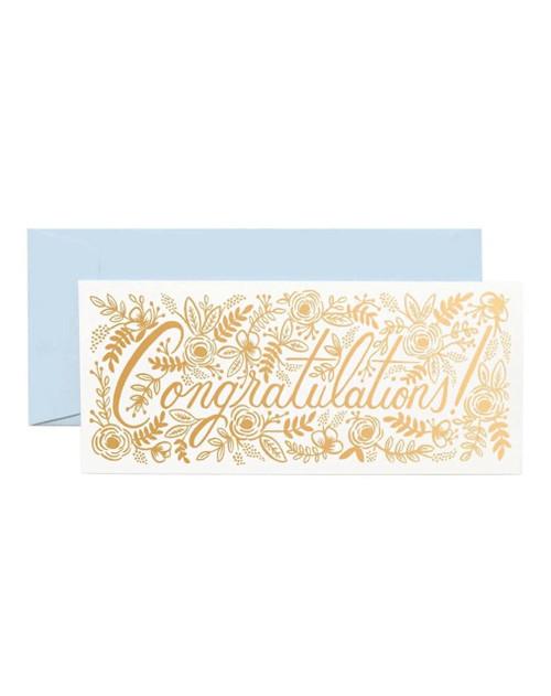 Floral Congrats Card