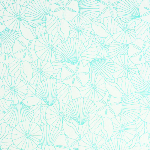Gift Wrap - Shells - Cream/Turquoise