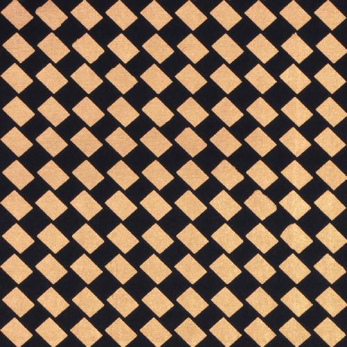 Gift Wrap - Woven Checkers - Black/Gold Metallic