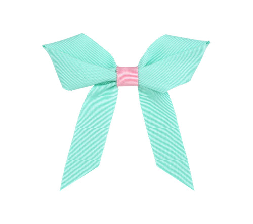 Two color Grosgrain Bow: Breeze Topper