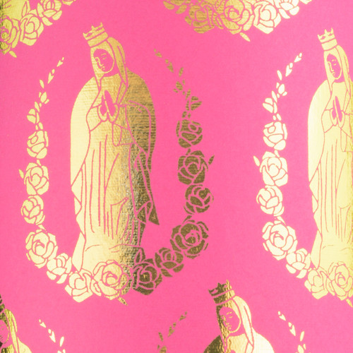 Virgin Mary - Magenta & Gold foil