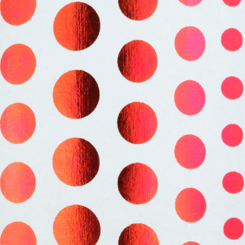 Polka Dots - White & Red foil