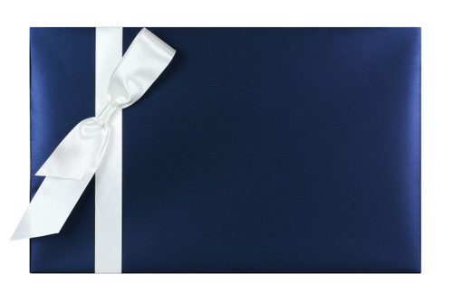 Present's Name: White on Navy
