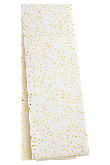 Speckled Tissue Paper - Gold Metallic