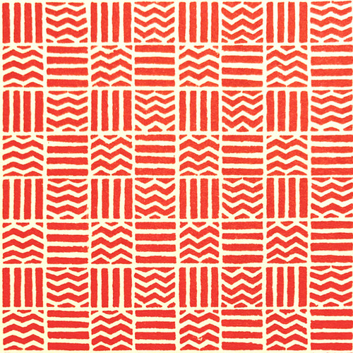 Wavy Line Pattern Red/White Gift Wrap
