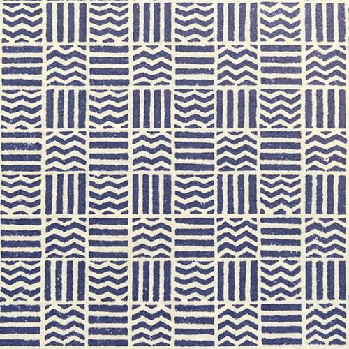 Wavy Line Pattern Blue/White Gift Wrap