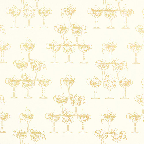 Champagne Cream and Gold Metallic Gift Wrap