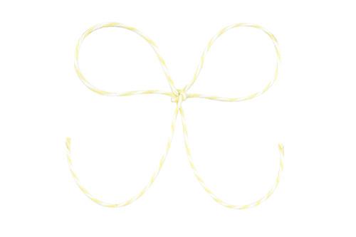 Baker's Twine - Light Yellow/White Stripe