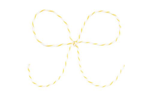 Baker's Twine - Yellow & White Stripe