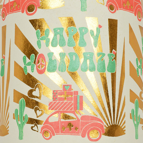 Happy Holidaze Cream Red/Green and Gold Foil