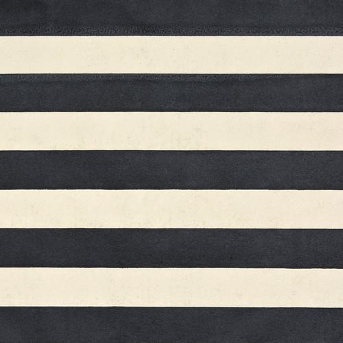 Stripes Cream Black Metallic