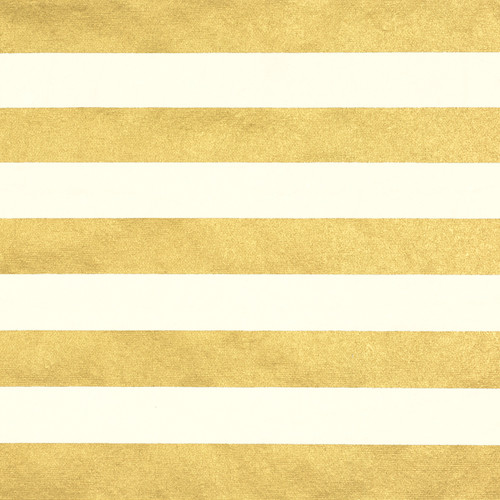 Stripes Cream Gold Metallic