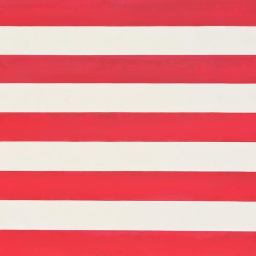 Stripes Cream Red Metallic