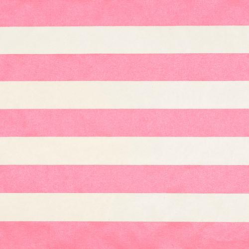 Stripes Cream Pink Metallic