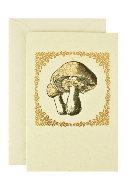 Letterpress Mushroom cards