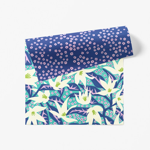 Lily Patch Double Sided Gift Wrap
