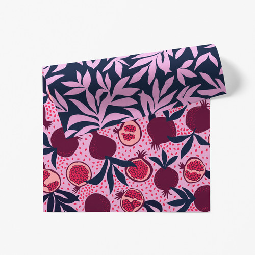 Winter Ruby Double Sided Gift Wrap