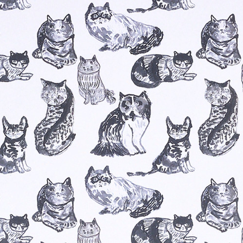 Black and White Cat Gift Wrap
