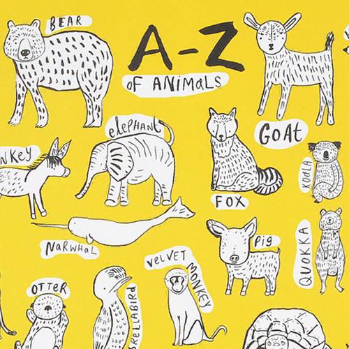 A-Z Yellow Gift Wrap