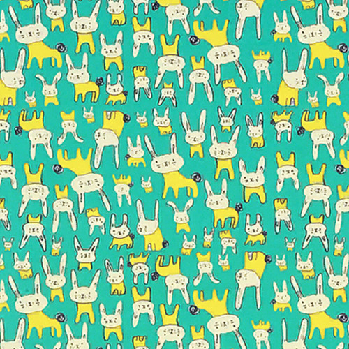 Green Bunnies Gift Wrap